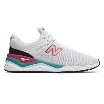 New Balance X-90, White with Pomegranate