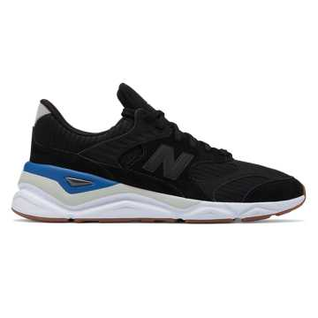 New Balance X-90, Black with Rain Cloud & Classic Blue