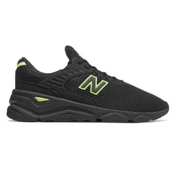 New Balance X-90, Black with Bleached Lime Glo