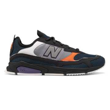 New Balance X-Racer, Phantom with Orion Blue & Coral Glow