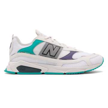 New Balance X-Racer, White with Violet Fluorite & Light Reef