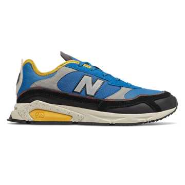 New Balance X-Racer, Neo Classic Blue with Black & Varsity Gold