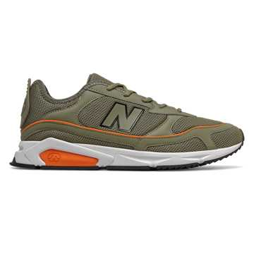 New Balance X-Racer, Covert Green with Varsity Orange