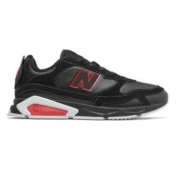 New Balance X-racer系列男女同款復古休閑運動鞋, 黑色