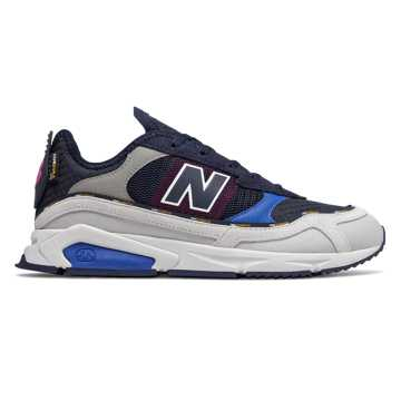 New Balance X-Racer, Summer Fog with Vivid Cobalt