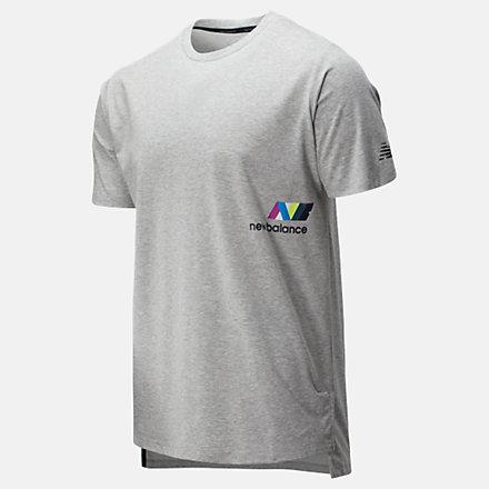New Balance T-shirt imprimé R.W.T. Heathertech, MT01061AG image number null