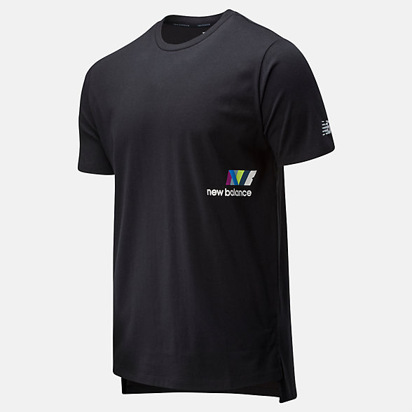 New Balance T-shirt imprimé R.W.T. Heathertech, MT01061BKW