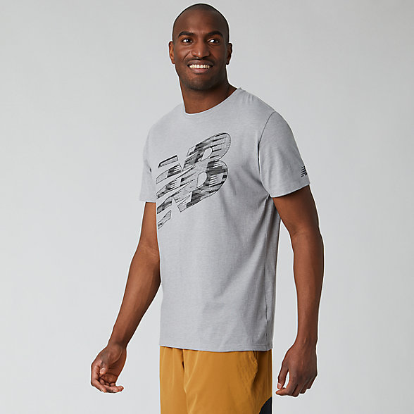 New Balance T-shirt imprimé Heathertech, MT01071AG