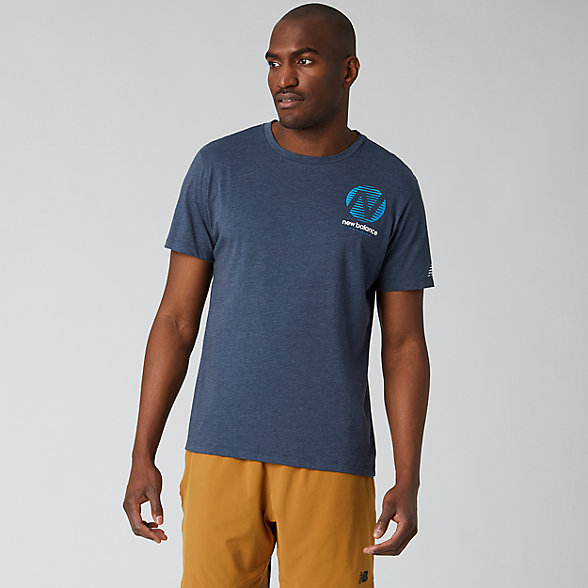 NB Graphic Heathertech T-Shirt, MT01071ECL