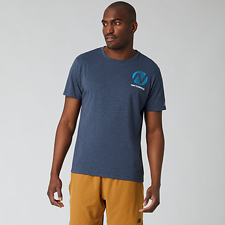 New Balance Graphic Heathertech T, MT01071ECL image number null