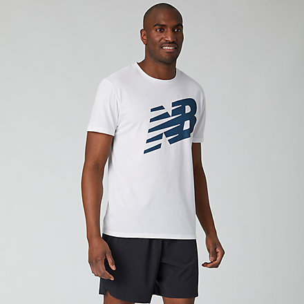 New Balance Graphic Heathertech T, MT01071WT image number null