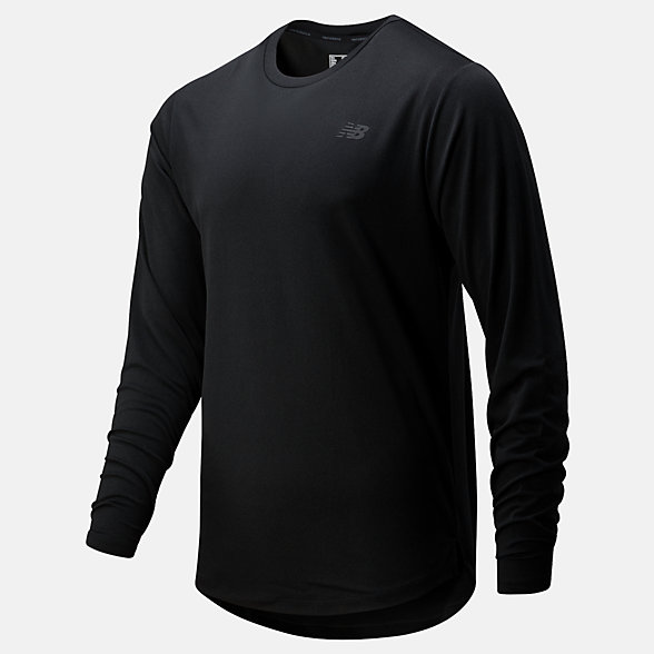 New Balance Fortitech Long Sleeve, MT01146BK