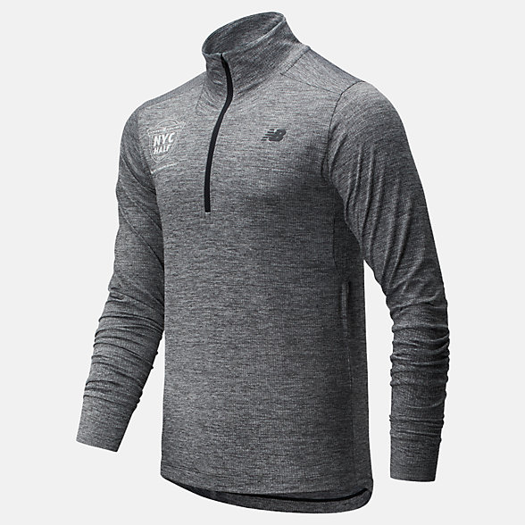 New Balance 2020 United Airlines Half Fortitech Quarter Zip, MT01148CBKH