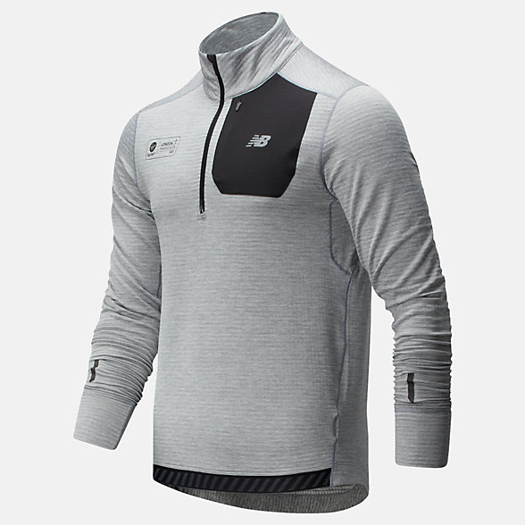 NB London Marathon NB Heatgrid Half Zip, MT01220DAG