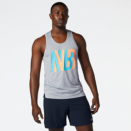New Balance Printed Impact Run Singlet, MT01233AGM image number null