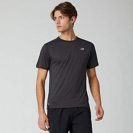NB Impact Run Short Sleeve, MT01234BKH image number null