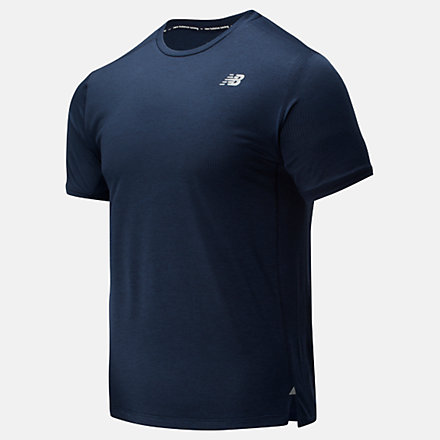 NB Impact Run Short Sleeve, MT01234ECR image number null