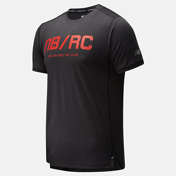 New Balance Printed Impact Run Short Sleeve, MT01235BRD