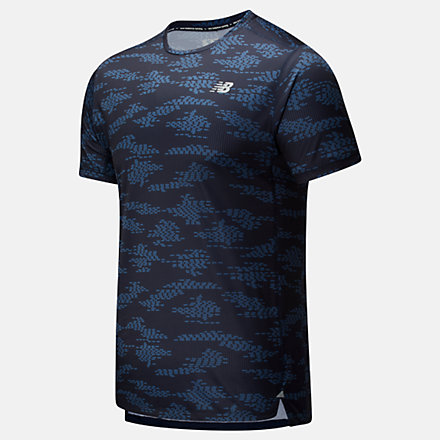 New Balance Printed Impact Run Short Sleeve, MT01235ECR image number null