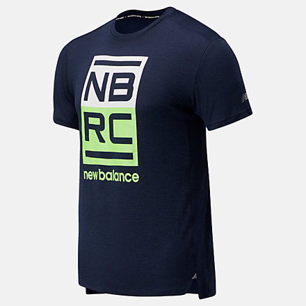 New Balance Printed Impact Run Short Sleeve, MT01235ELR image number null