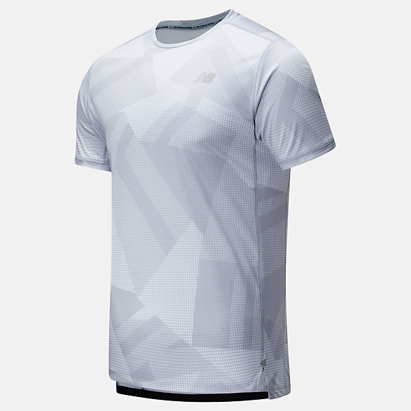 New Balance Printed Impact Run Short Sleeve, MT01235LSL