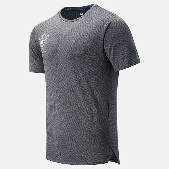 New Balance 2020 United Airlines Half Q Speed Jacquard Short Sleeve, MT01259CHC