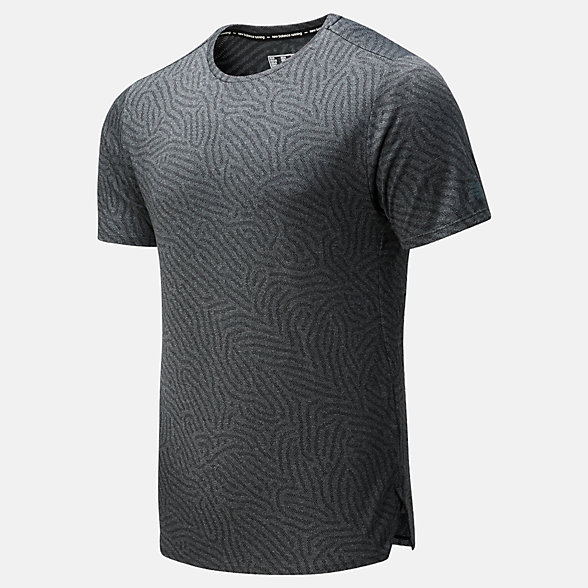 NB Q Speed Jacquard Short Sleeve, MT01259HC