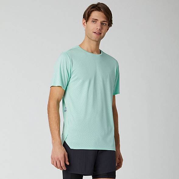 NB Q Speed Jacquard Short sleeve top, MT01259NMH