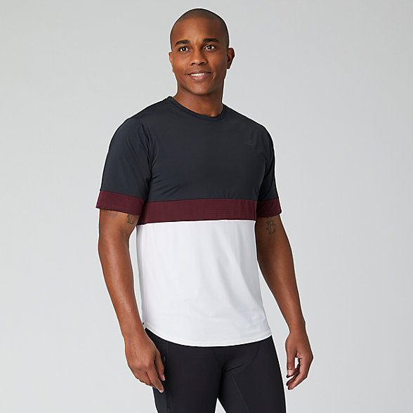 New Balance PMV Archive Run Short Sleeve, MT01280BK