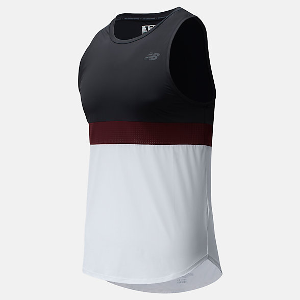 New Balance PMV Archive Run Singlet, MT01281BK