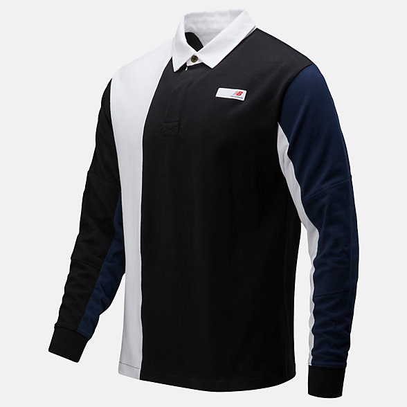 New Balance Long Sleeve Rugby, MT01501BK