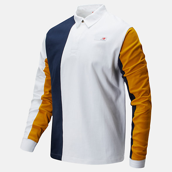New Balance Long Sleeve Rugby, MT01501NGO