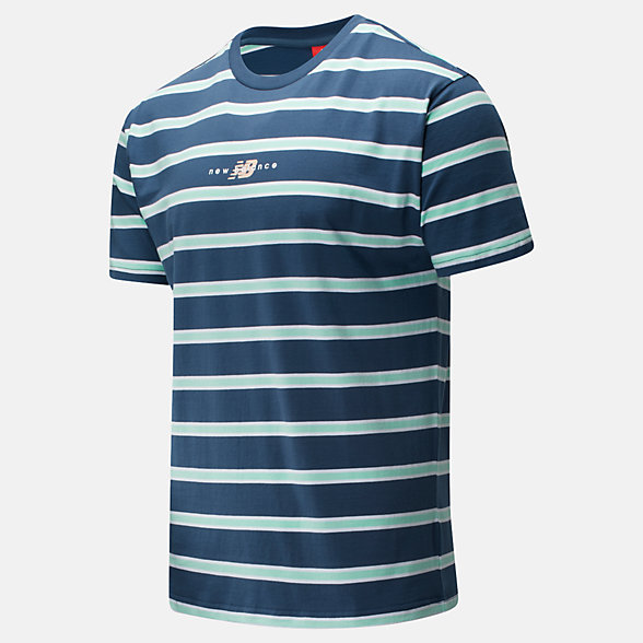 NB NB Athletics Prep Stripe Tee, MT01514SNB