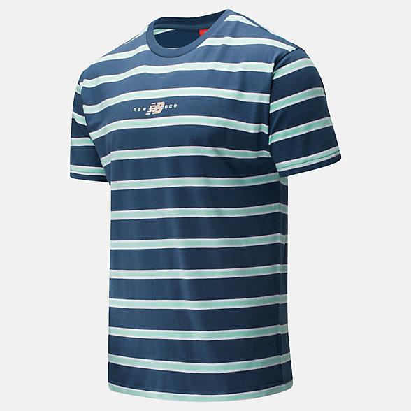 NB NB Athletics Prep Stripe T-Shirt, MT01514SNB