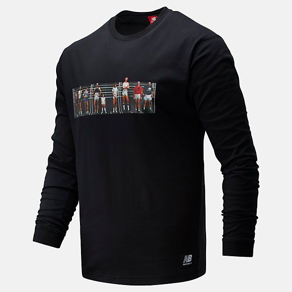 NB NB Athletics Archive Run Long Sleeve Tee, MT01519BK