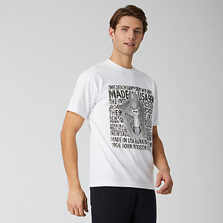 NB NB Athletics Kenji Butterfly Tee, MT01522WT image number null
