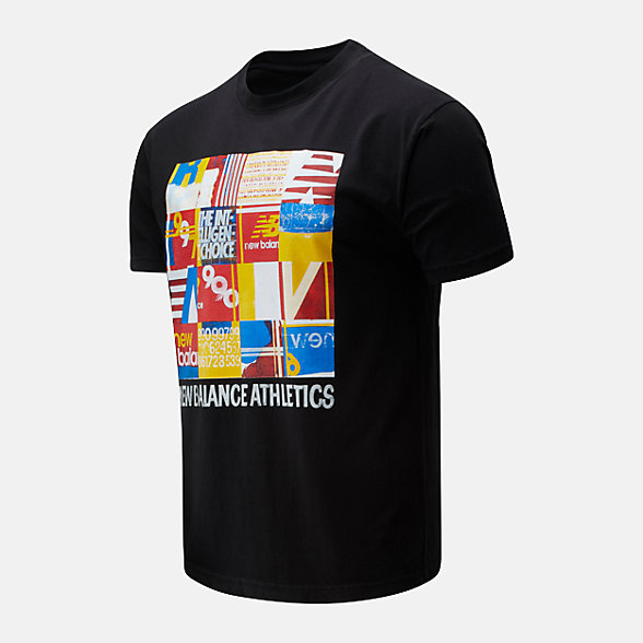 New Balance NB Athletics Kenji Tile Tee, MT01523BK
