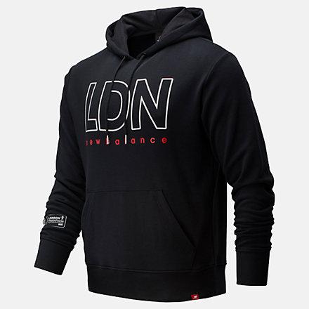NB London Marathon Essentials Icon Hoodie, MT01524DBK image number null