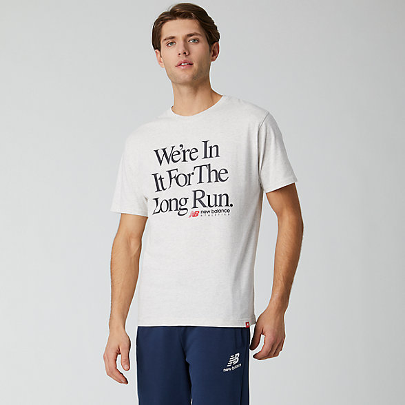 NB Essentials Icon Long Run T-Shirt, MT01526SAH