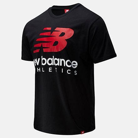 New Balance Essentials Icon Boston Stack Tee, MT01528BK image number null