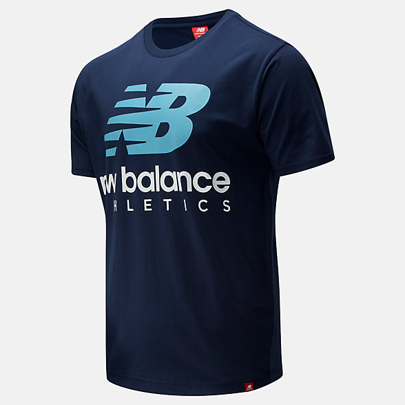 New Balance Essentials Icon Boston Stack Tee, MT01528NGO