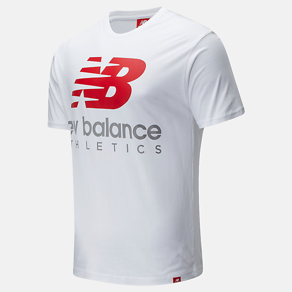 New Balance Essentials Icon Boston Stack Tee, MT01528WT