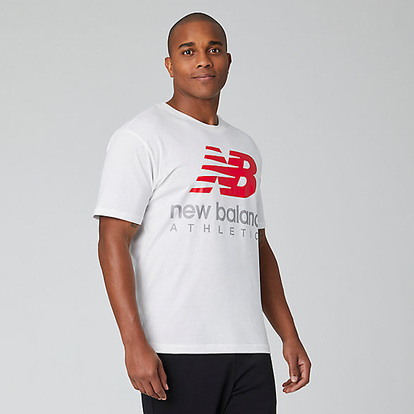 New Balance Essentials Icon Boston Stack Tee, MT01528WT
