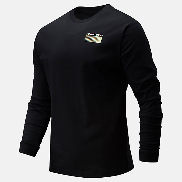 New Balance Sport Style Optiks Long Sleeve Tee, MT01537BK