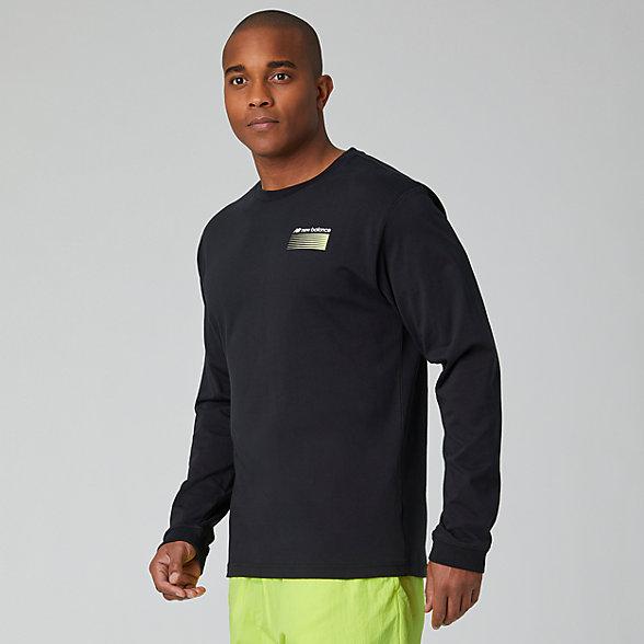 New Balance Sport Style Optiks Long Sleeve Tee, MT01537BK