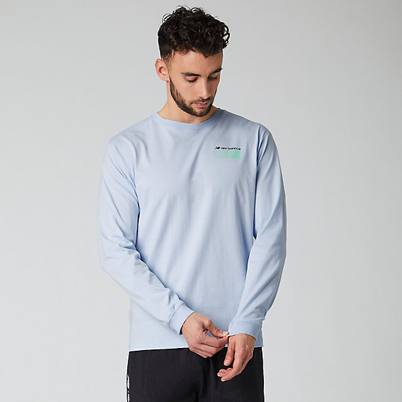 New Balance Sport Style Optiks Long Sleeve Tee, MT01537MND