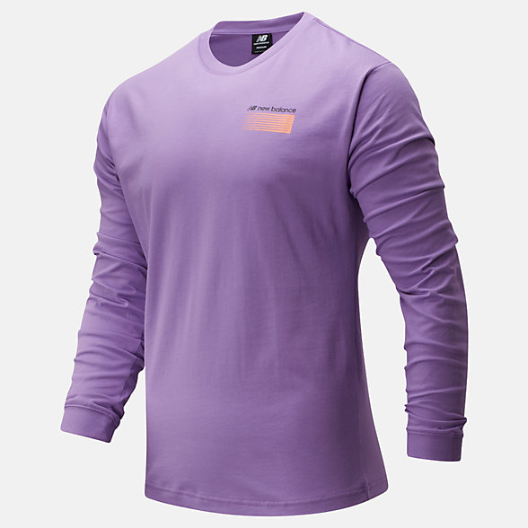New Balance Sport Style Optiks Long Sleeve Tee, MT01537NVI