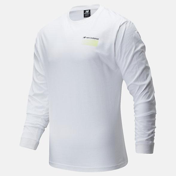 New Balance Sport Style Optiks Long Sleeve Tee, MT01537WT