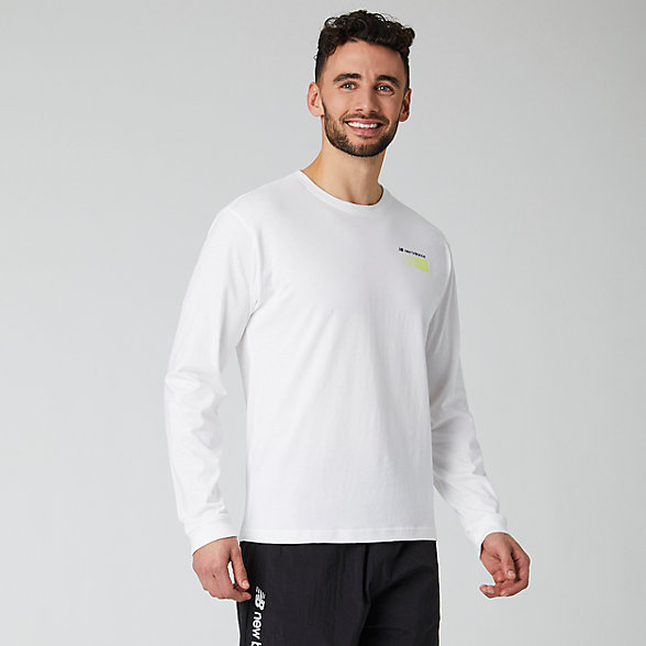 New Balance Sport Style Optiks Long Sleeve Tee, MT01537WT