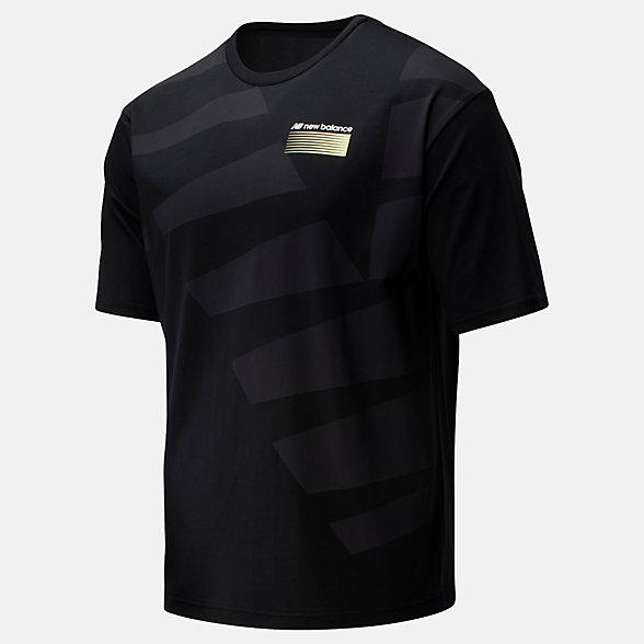 New Balance T-shirt surdimensionné Sport Style Optiks, MT01538BK